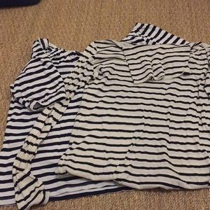 Two Jcrew horizontal striped sale!! Size XS